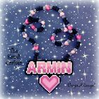 Armin Van Buuren Pink Heart Kandi Mini Perler Bead Necklace Rave EDM