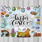 Easter Hippie Tapestry Wall Hanging Blanket Chicken egg rabbit and flower Print