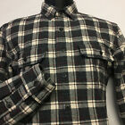 J. CREW Factory Heavywieght Flannel Workshirt in Gray, Beige, Red Plaid size: M
