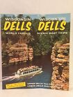 1960s WISCONSIN DELLS SCENIC BOAT TRIPS CLIPPER WINNEBAGO Fold Out Brochure Map