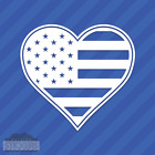 American Flag Heart Love Vinyl Wall Decal Sticker Patriotic United States