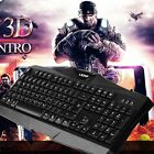 LESHP Black Comfortable Wired Game Gaming Mouse Keyboard Set With Mouse MY