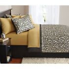 Black Brown Gold Giraffe Animal Print Comforter Set With Sheets Bedding All Size