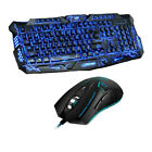 Purple/Blue/Red LED Breathing Backlight Wired Pro Gaming Keyboard Mouse Combos