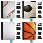 Baseball Golf Basketball FootballnCase For iPad Mini 2 3 4 Pro 9.7 10.5 12.9 Air