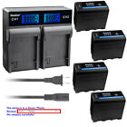 Kastar Battery LCD Dual Rapid Charger for Sony NP-F950 NP-F960 NP-F970 NPF970Pro