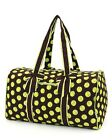 Belvah assorted colors quilted monogramable polka dot duffel bags travel gym bag