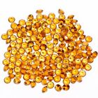 AAA Natural Citrine Golden Yellow topaz faceted round shape gemstone 3mm-10mm