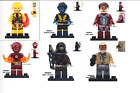 Lego Figures DC Super Heroes Ironman Trickster Nightcrawler Flash Joker Vibe