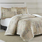 Quilt Set 3Pc Blush Patchwork Traditional Beige Elegant Lightweight 100% Cotton image