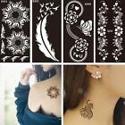 1 Sheet Black Flower Style Henna Stencil Body Art Temporary Tattoo Type Style