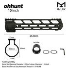"Ohhunt 15"" 13.5"" 12"" 10"" 9"" 7"" Free Float M-LOK Handguard Picatinny with NutScope Mounts & Accessories - 52510"