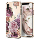 iPhone X/XS, XS Max,XR | Ciel [Cecile] Rose Floral Ultra Slim TPU Cover Case