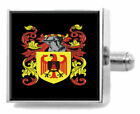 Matchet England Heraldry Crest Sterling Silver Cufflinks Engraved Message Box