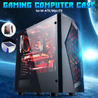 Water Cooling Glass V3 ATX Mid Tower Computer Gaming Case w/ 8 Fan Ports USB 3.0
