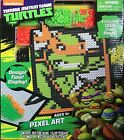 NIB TEENAGE MUTANT NINJA TUTLES PIXEEL ART SET 1500 FUSE BEADS INCLUDED AGE 4+