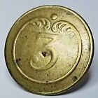 Napoleonic button French 3rd Line Infantry enlisted uniform coat button