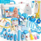 37pcs Kids Cosplay Role Play Doctor/Nurse Toy Baby Suitcases Medical Dentist Set