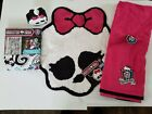 Monster High Doll  Shower Curtain , Riug Bath Towel & Soap Dispenser  NEW