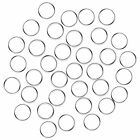 Fushing 100Pcs Stainless Split Rings, Crystal Chandeliers Connectors for Chandel