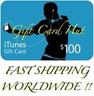 $100 US iTunes Gift Card Certificate Apple USA USD iTune 100% Genuine