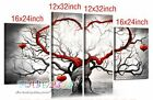 YH084 4pc Family tree Hand painted Oil Painting canva Love Wishing Tree NO Frame