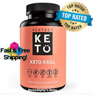 Perfect Keto Antarctic Krill Oil   Highly Potent Omega-3 Supplement 90 SoftGels