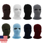 US Full Face Cover Knit 2 Hole Ski Mask Hat Shield Beanie Cap Snow Winter Warm