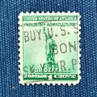 1940 Industry Agriculture for Defense 1 Cent Postage Stamp, Scott #899..