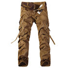 Men's Combat Cargo Military Army Camo Work Tactical Long Pants Trousers Shorts