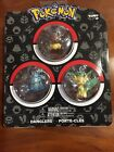 Pokemon TOMY Dangler 3 Pack Leafeon, Glaceon, Eevee Keychain Sealed New