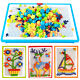 296pcs Picture puzzle flashboard toy kids intellectual mushroom nail kit _H