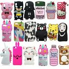 3D Cute Cartoon Soft Silicone Case Back Cover Skin Shell For iPhone Series Phone