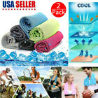 2 Pcs Ice Cold Instant Cooling Towel Running Jogging Gym Chilly Pad Sports Yoga image