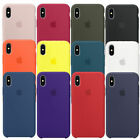 Original Geunine For A pple i Phone XS Max Ultra-Thin Silicone Case Phone Cover