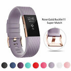 Replacement Sport Strap Watch Band Bracelet For Fitbit Charge 2 Rose Gold Buckle image