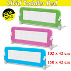 Folding Child Toddler Bed Rail Safety Protection Guard Pink Durable 3 Colors