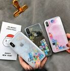 Funny Mobile App Icon Pattern Liquid Glitter Phone Case For i Phone XS MAX XR 8