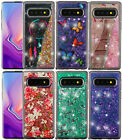 Samsung Galaxy S10/S10+ Plus -Hard Rubber Floating Liquid Waterfall Glitter Case