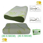 Orthopaedic Pillow Head Neck Support Bamboo Contour Memory Foam Pillows 2 Sizes