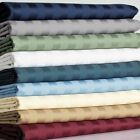 Super Deep Pocket Soft Bed 3 PC Fitted Sheet Set US Full XL Striped Colors image