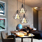 Modern Wire Cage Style Pendant Light Metal LampShade Ceiling Lamp Shade EASY .