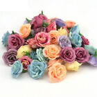 Colorful Artifical Rose Silk Flower Heads Wedding Party Home Decoration Wreath