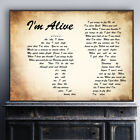 I'm Alive Man Lady Couple Song Lyric Quote Print