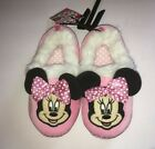 Disney Minnie Mouse Pink Soft Slippers Toddler Size 5/6 7/8 9/10 11/12
