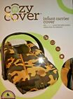 COZY COVER Infant Carrier Cover Pink Camo, Black, White, Cayenne or Camo