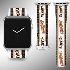 San Francisco Giants Apple Watch Band 38 40 42 44 mm Fabric Leather Strap 03 on Ebay