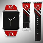 New Jersey Devils Apple Watch Band 38 40 42 44 mm Fabric Leather Strap 02 $29.97 USD on eBay