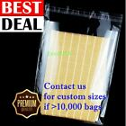Clear 12x15 T Shirt Plastic Bags 5/100/1000/5K Reclosable Resealable Cello Poly
