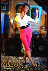 Deadly Dames Capri Pants in Hot Pink Bengaline Pinup Style
